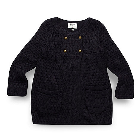 J by Jasper Conran - Girl's navy chunky cardigan