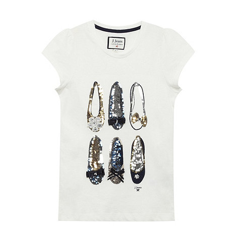 J by Jasper Conran - Girls+ off white sequin shoes t-shirt