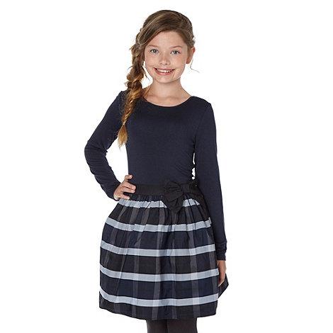 J by Jasper Conran - Girl+s navy taffeta dress