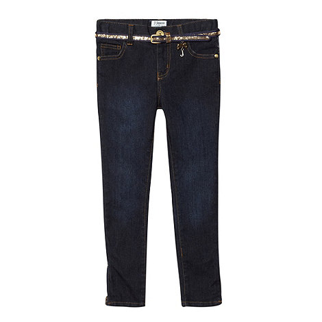 J by Jasper Conran - Girl+s blue skinny jeans and belt