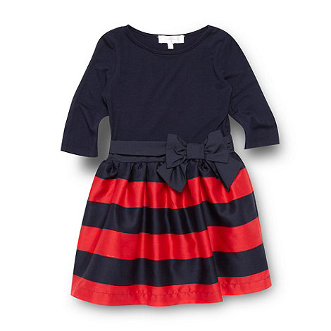 J by Jasper Conran - Girls Navy Mockable Stripe Dress