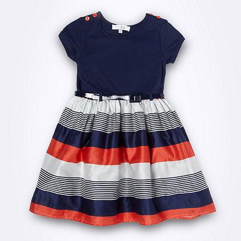 J by Jasper Conran - Designer girl+s navy striped skirt dress