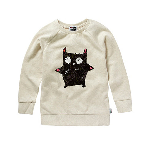 Donna & Markus by Markus Lupfer - Designer girl+s cream little monster sweat jumper