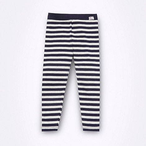 Donna & Markus by Markus Lupfer - Designer girl+s grey striped leggings