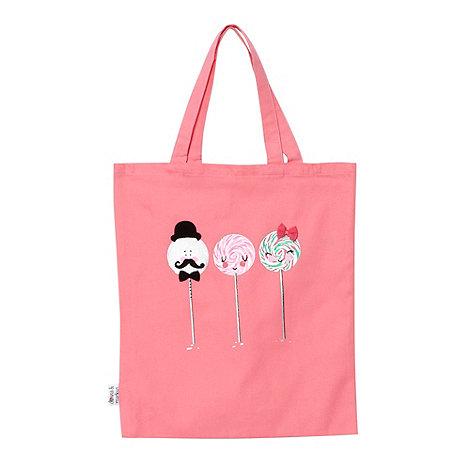 Donna & Markus by Markus Lupfer - Designer girl+s pink lollipop printed shopper bag