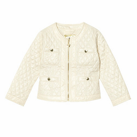 Star by Julien Macdonald - Designer girl+s off white collarless quilted jacket
