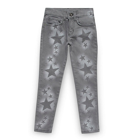 Star by Julien Macdonald - Designer girl+s grey star printed jeans