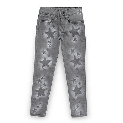 Star by Julien Macdonald - Designer girl+s grey star printed jeans