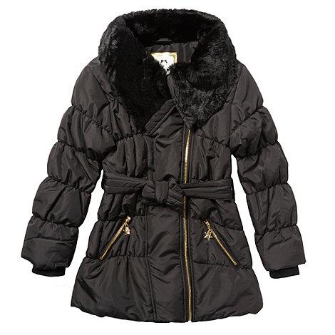 Star by Julien Macdonald - Girl+s black padded coat