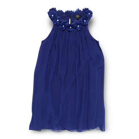 Star by Julien Macdonald - Girl+s blue gem neck dress