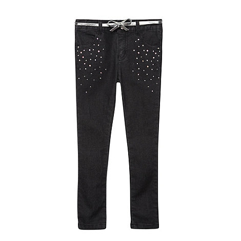 Star by Julien Macdonald - Girl+s black studded skinny jeans