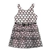 Designer girl's pale pink heart dress