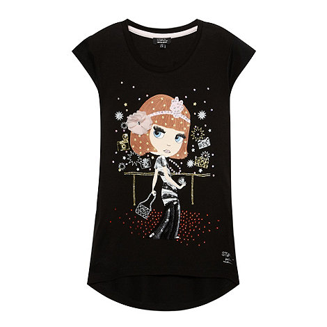 Star by Julien Macdonald - Girl+s black sequinned  vest