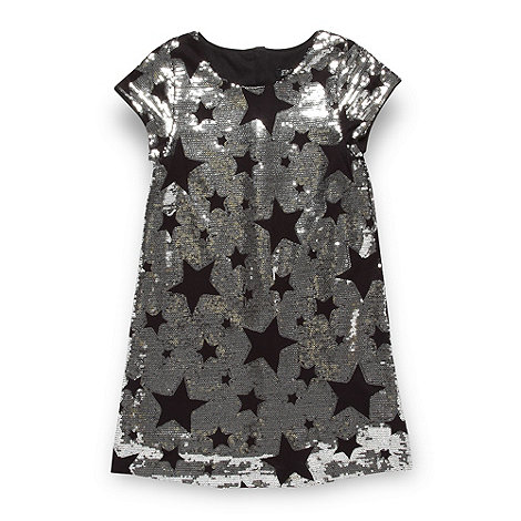 Star by Julien Macdonald - Designer girl+s silver sequin star dress