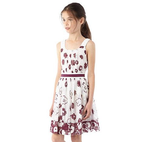 RJR.John Rocha - Girl+s off white floral dress