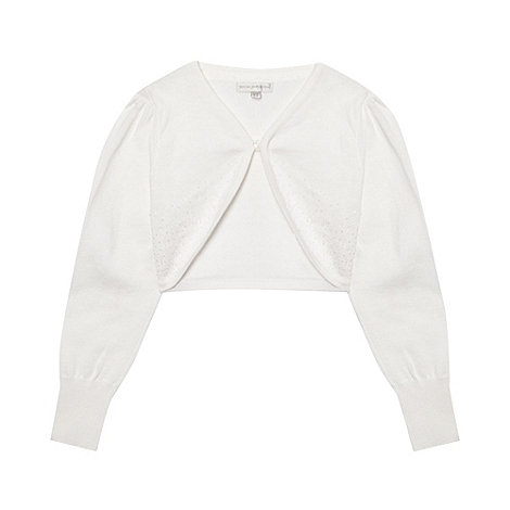 RJR.John Rocha - Girl+s white beaded cardigan