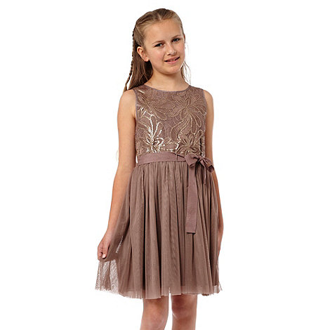 RJR.John Rocha - Girl+s dusk pink sequinned bodice dress