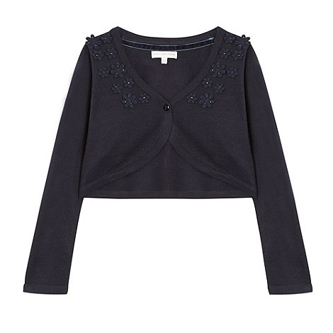 RJR.John Rocha - Girl+s navy beaded cardigan