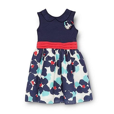 RJR.John Rocha - Designer girl+s navy floral dress