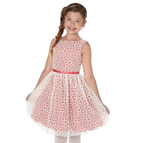 RJR.John Rocha - Girl+s pink broderie layer dress