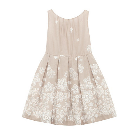 RJR.John Rocha - Girl+s brown rose printed dress