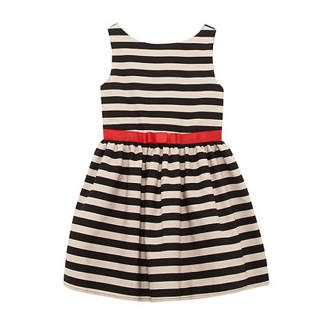 bluezoo - Girl+s black fine stripe dress