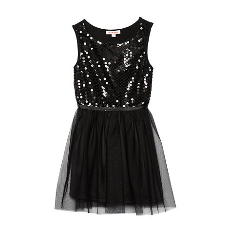 bluezoo - Girl+s black sequinned dress