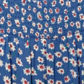 bluezoo - Girl+s blue shirred daisy jumpsuit Alternative 2