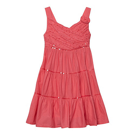 bluezoo - Girl+s pink cross over sequin dress
