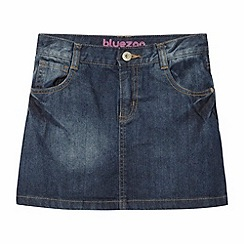 bluezoo - Girl's dark blue woven denim skirt