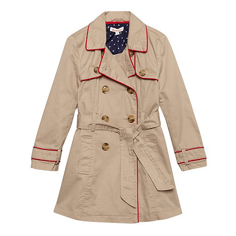 bluezoo - Girl's beige tipped mac coat