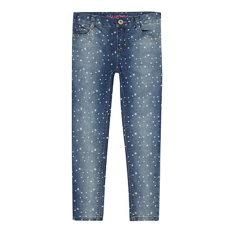 bluezoo - Girl+s blue star patterned skinny jeans