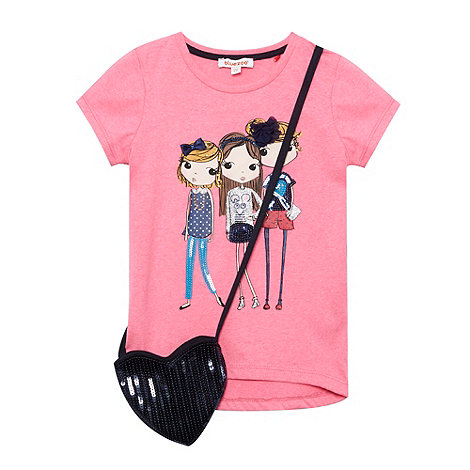 bluezoo - Girl+s bright pink girl t-shirt with bag