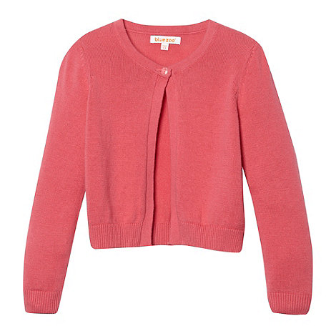 bluezoo - Girl+s pink knitted cardigan