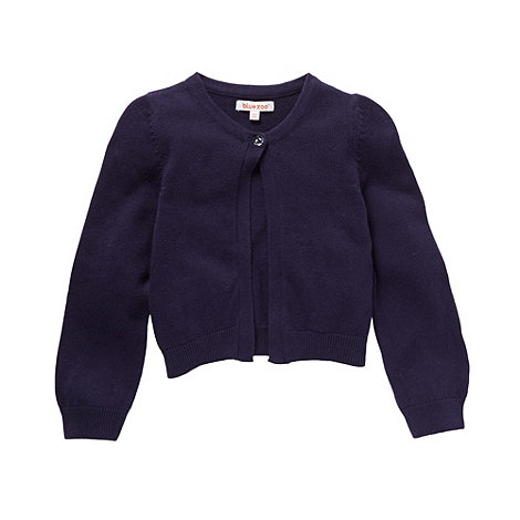 bluezoo - Girl+s navy cardigan