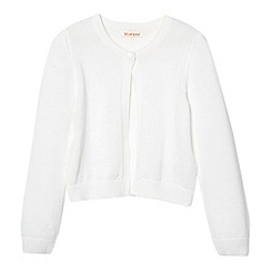 bluezoo - Girl's white knitted cardigan