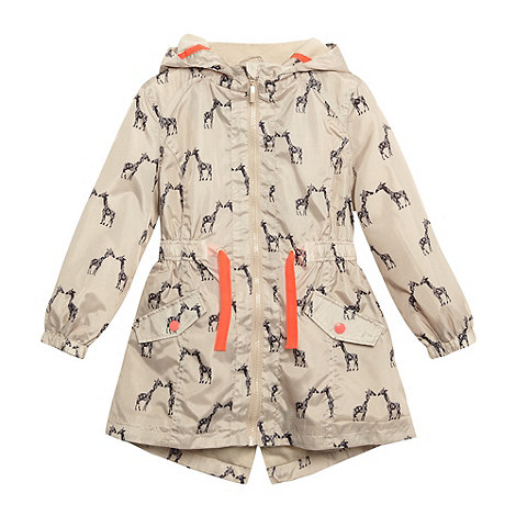bluezoo - Girl+s beige giraffe windcheater jacket
