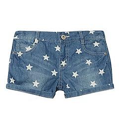 bluezoo - Girl's blue star denim shorts