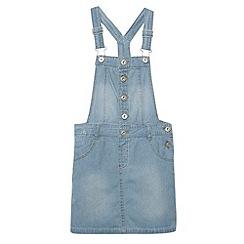 bluezoo - Girl's blue denim dungaree dress