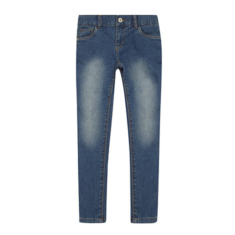 bluezoo - Girl+s blue faded skinny jeans