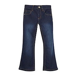 bluezoo - Girl's dark blue bootcut jeans