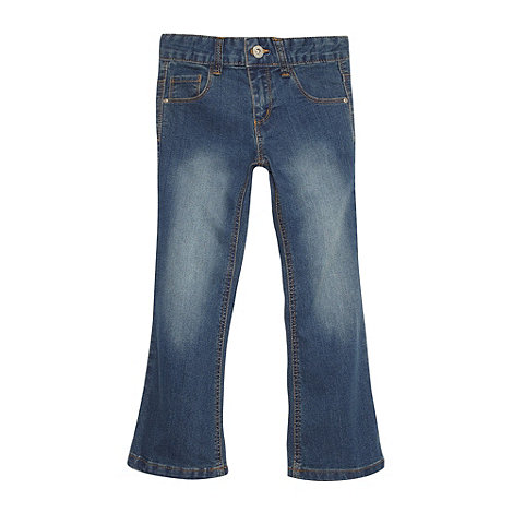 bluezoo - Girl+s mid blue bootcut jeans