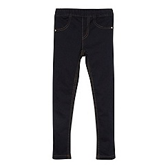 bluezoo - Girl's dark indigo woven jeggings