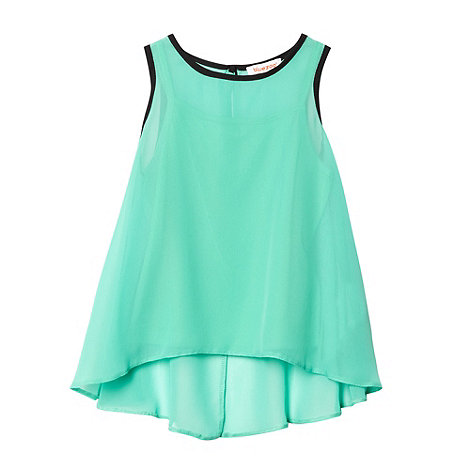 bluezoo - Girl+s green chiffon vest top