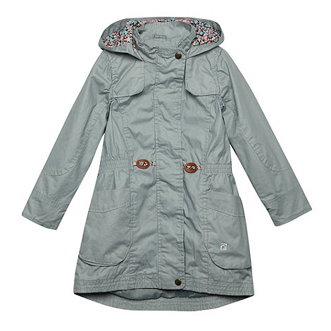 Mantaray - Girl+s pale green coated parka coat