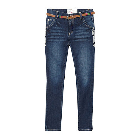 Mantaray - Girl+s blue skinny jeans