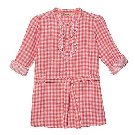 Mantaray - Girl's pink checked shirt