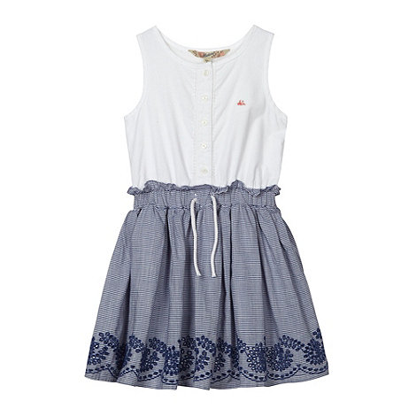 Mantaray - Girl+s white striped dress