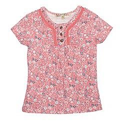Mantaray - Girl's pink floral t-shirt