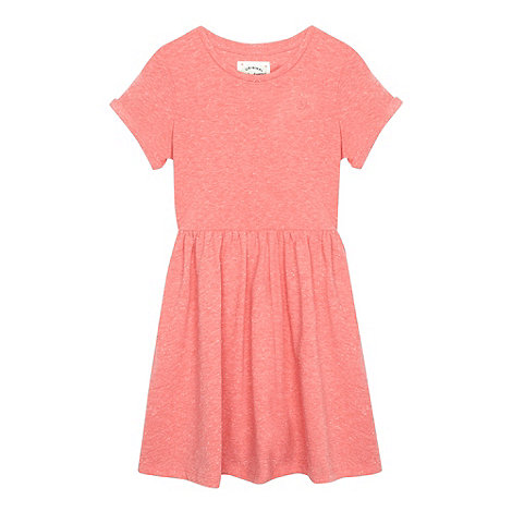 Mantaray - Girl+s pink flecked jersey dress